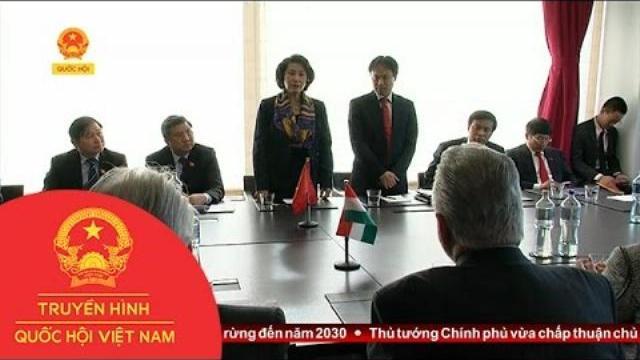 Thời sự - Chủ tịch Quốc hội tiếp Chủ tịch Nhóm Nghị sỹ Hữu nghị Hunggary - Việt Nam