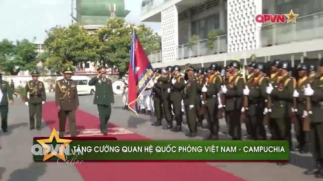 Lễ đón Trung tướng Phan Văn Giang thăm chính thức Campuchia