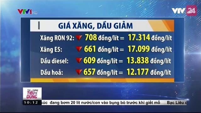 Giá xăng, dầu giảm lần thứ 3 trong năm 2017 | VTV24