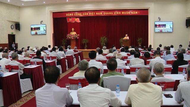 Tổng Bí thư Nguyễn Phú Trọng chủ trì Hội nghị gặp mặt cán bộ cấp cao đã nghỉ hưu