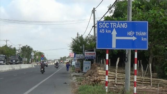 Bạc Liêu: Biển chỉ dẫn đường sai gây khó cho người tham gia giao thông