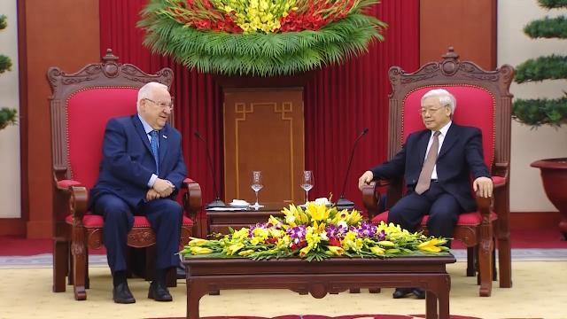 Tổng Bí thư Nguyễn Phú Trọng tiếp Tổng thống Nhà nước Israel