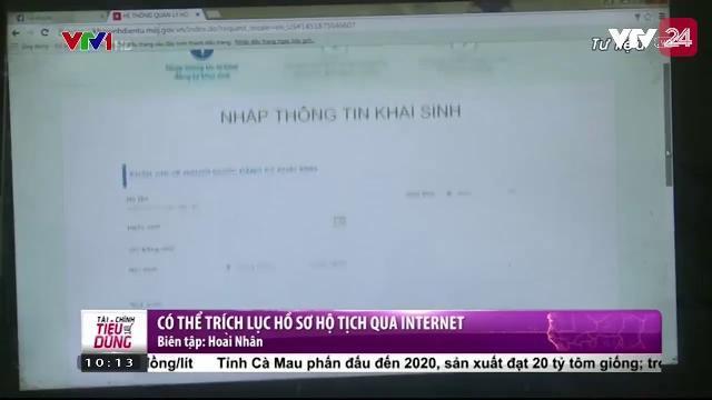 Có thể trích lục hồ sơ hộ tịch qua Internet | VTV24