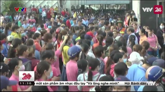 Tin Tức VTV24 - 04/04/2017: Gần 700 Công Nhân Ngưng Việc Phản Đối Quy Định Bất Thường Của Công Ty