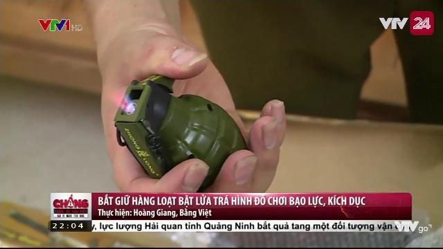 Bắt giữ hàng loạt bật lửa trá hình đồ chơi bạo lực, kích dục | VTV24