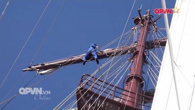Nhiệm vụ nguy hiểm của thủy thủ tàu buồm Lê Quý Đôn
