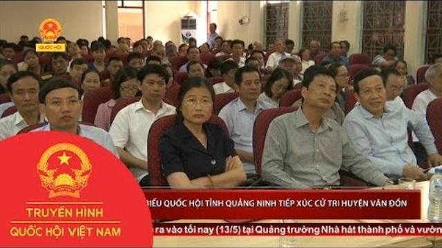 Đoàn đại biểu Quốc hội tỉnh Quảng Ninh tiếp xúc cử tri huyện Vân Đồn