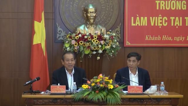 Phó Thủ tướng Trương Hòa Bình làm việc với tỉnh Khánh Hòa