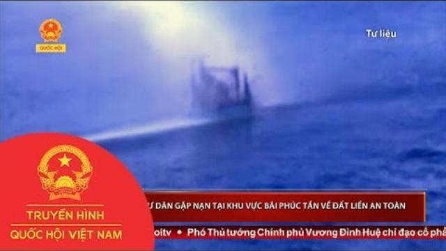 Thời sự - Đưa 6 ngư dân gặp nạn tại khu vực bãi Phúc Tần về đất liền an toàn