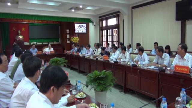 Chủ tịch Ủy ban TƯ MTTQ Việt Nam Nguyễn Thiện Nhân thăm và làm việc tại Sóc Trăng