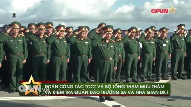 Tin quân sự Việt Nam nổi bật tuần qua: Lãnh đạo Bộ quốc phòng thăm Trường Sa