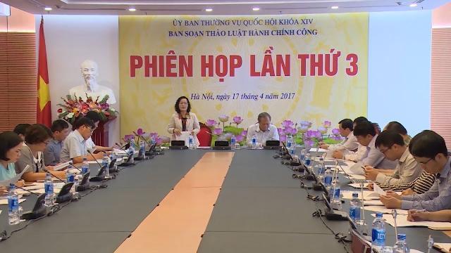 Ban soạn thảo Dự án Luật chính sách công tổ chức phiên họp lần thứ 3