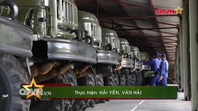 Kho J102 bảo quản, niêm cất xe quân sự sẵn sàng chiến đấu