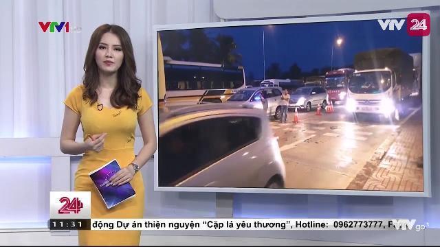 Tiếp tục tắc đường tại điểm thu phí BOT Cai lậy - Đồng Nai | VTV24