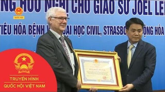 Thời sự - Hà Nội trao tặng huân chương hữu nghị cho Giáo sư người Pháp Joel Leroy