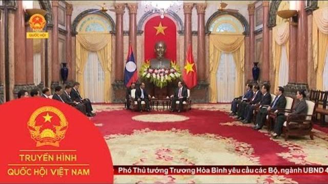Thời sự - Chủ tịch nước tiếp Bộ trưởng Bộ An ninh Lào