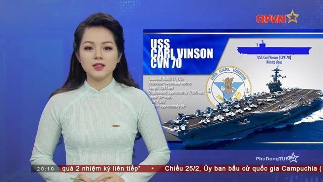 Tàu sân bay Mỹ USS Carl Vinson thăm Việt Nam từ ngày 5 đến ngày 9/3/2018