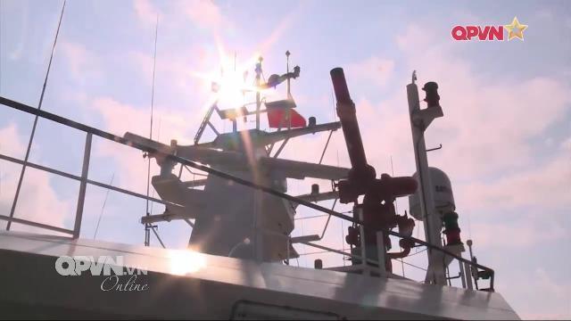 Tàu Cảnh sát biển 8003, 8004 của Việt Nam tuần tra chung với Trung quốc trên biển