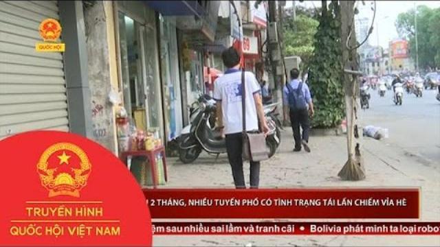 Hà Nội: sau 2 tháng, nhiều tuyến phố có tình trạng tái lấn chiếm vỉa hè