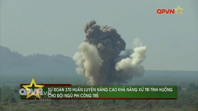 Thời sự Quốc phòng Việt Nam ngày 11/4/2017: Sư đoàn không quân 370 thực hành bắn ném mục tiêu