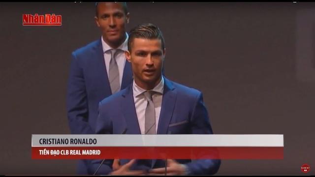 Tin Thể Thao 24h Hôm Nay (19h45 - 21/3): Ronaldo Nhận Giải Cầu Thủ Bồ Đào Nha Xuất Sắc Nhất Năm 2016