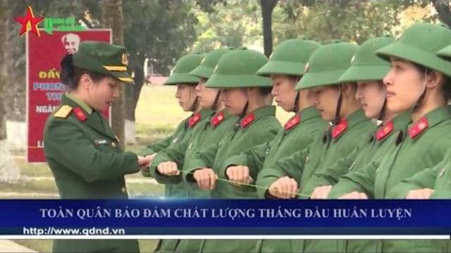 Toàn quân nâng cao chất lượng huấn luyện đầu năm 2017
