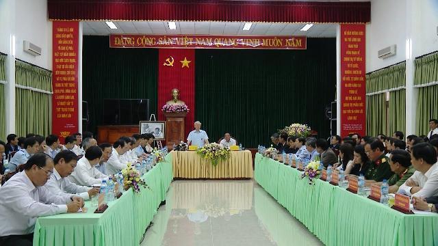 Tổng Bí thư Nguyễn Phú Trọng thăm và làm việc với tỉnh Quảng Trị