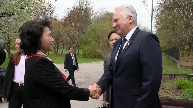 Chủ tịch Quốc hội Nguyễn Thị Kim Ngân gặp Phó Chủ tịch Quốc hội Hungary Jakab Istvan