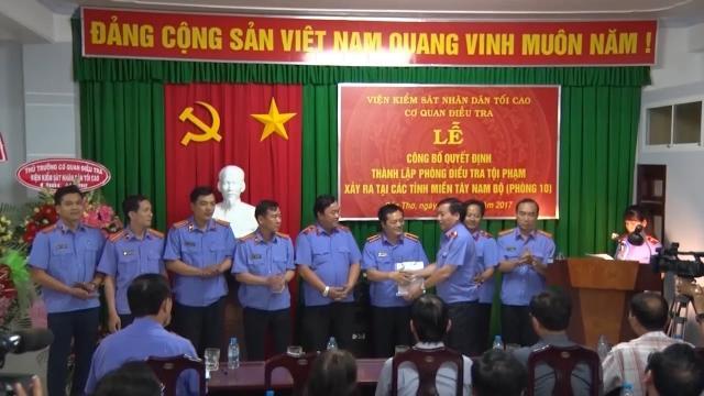Thành lập Phòng điều tra tội phạm tại các tỉnh, thành Tây Nam Bộ