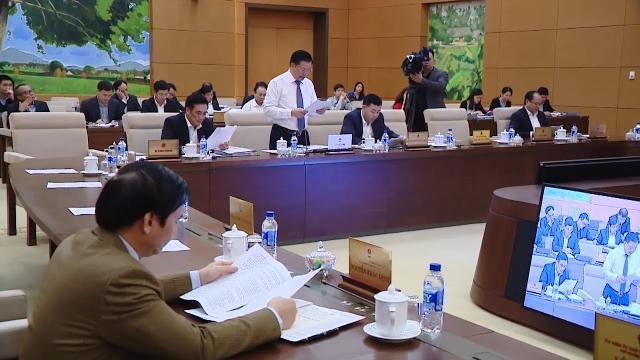 UBTVQH thảo luận về dự án Luật quản lý nợ công (sửa đổi) và dự thảo Luật quản lý ngoại thương
