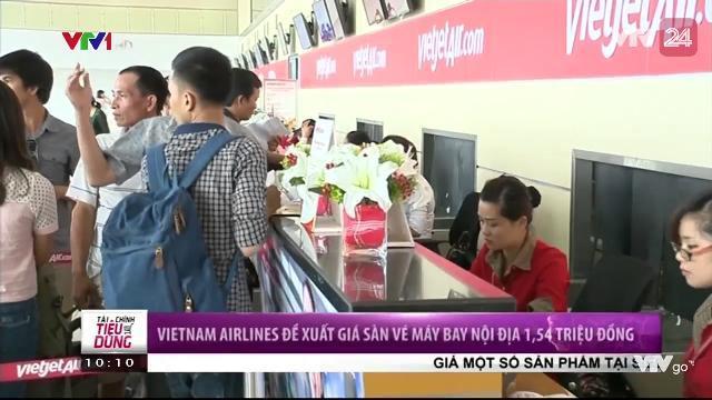 Tin Tức VTV24 - Ngày 05/04/2017: VietNam Airlines Đề Xuất Giá Sàn Vé Máy Bay Nội Địa