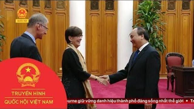 Thủ tướng tiếp Đại sứ Vương quốc Bỉ, Liên minh Châu Âu và Đại diện lâm thời ĐSQ CHLB Đức tại VN