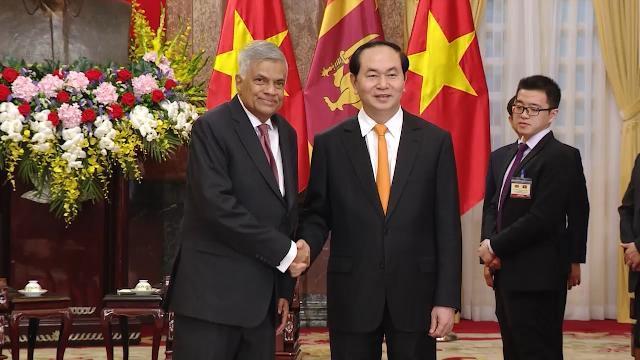 Tin Tức 24h: Chủ tịch nước Trần Đại Quang tiếp Thủ tướng Sri Lanka