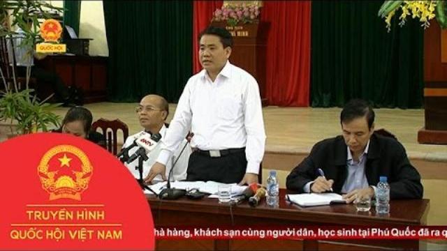 Chủ tịch UBND TP Hà Nội Nguyễn Đức Chung đối thoại với nhân dân xã Đồng Tâm