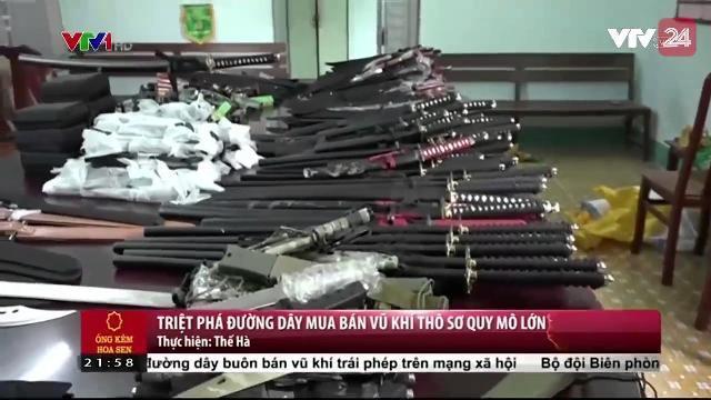 Triệt phá đường dây mua bán vũ khí thô sơ quy mô lớn | VTV24