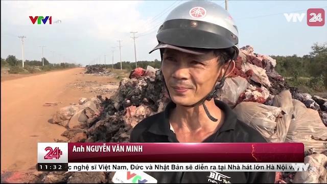 Tỉnh lộ 823B: Tỉnh lộ hay là bãi rác công nghiệp | VTV24