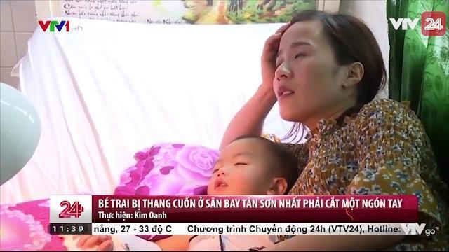Bé Trai Bị Thang Cuốn Ở Sân Bay Tân Sơn Nhất Phải Cắt Một Ngón Tay - Tin Tức VTV24