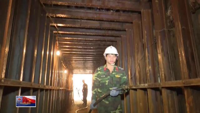 Công binh Quân khu 5 xây công trình ngầm phòng thủ Quốc phòng