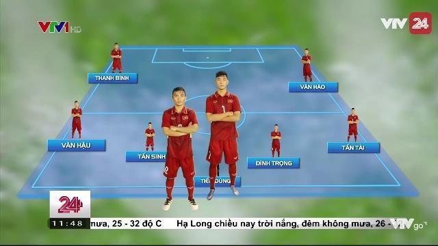 Đội hình ra sân dự kiến của U20 Việt Nam | VTV24