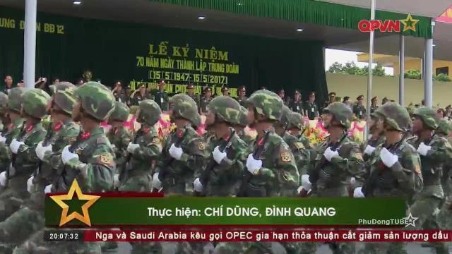 Trung đoàn 12 Sư đoàn 3 kỷ niệm 70 năm thành lập