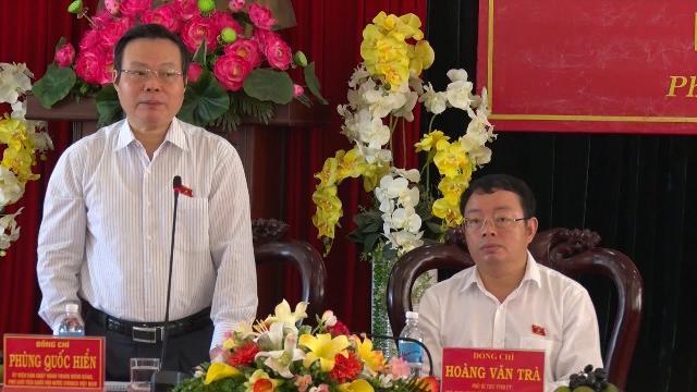 Phó Chủ tịch Quốc hội Phùng Quốc Hiển làm việc với tỉnh Phú Yên