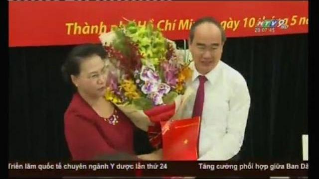 Video: Đ/c Nguyễn Thiện Nhân chính thức nhận chức bí thư TP Hồ Chí Minh
