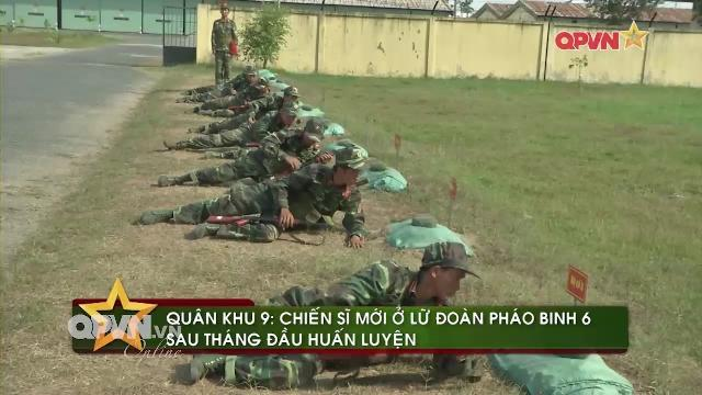Tân binh Lữ đoàn Pháo binh 6 Quân khu 9 trên thao trường