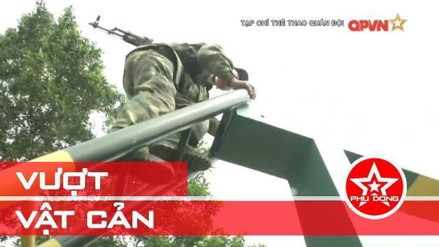 Trên thao trường huấn luyện bãi vượt vật cản mới của Quân đội Việt Nam