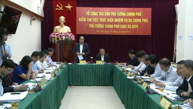 Tổ công tác của Thủ tướng làm việc với Bộ Giao thông vận tải