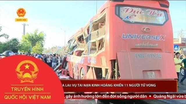 Gia Lai: Vụ tai nạn kinh hoàng khiến 11 người tử vong