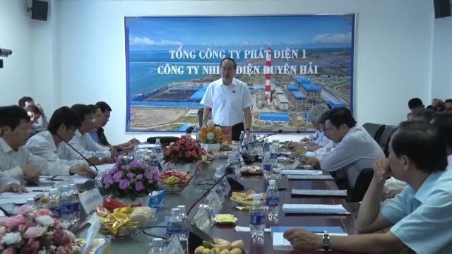 Đồng chí Nguyễn Thiện Nhân giám sát tại Nhà máy Nhiệt điện Duyên Hải