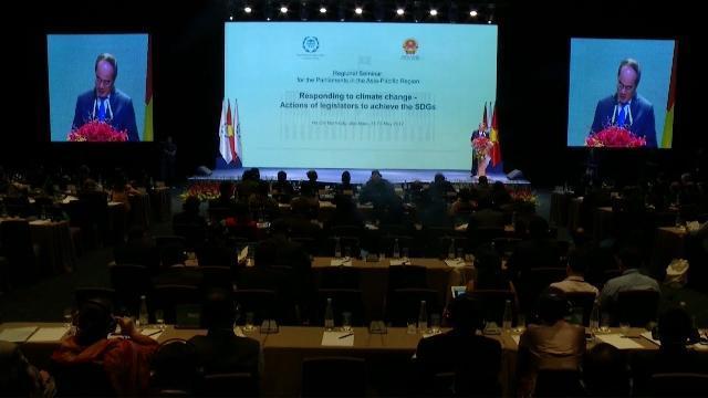Khai mạc Hội nghị chuyên đề IPU khu vực châu Á - Thái Bình Dương về ứng phó biến đổi khí hậu