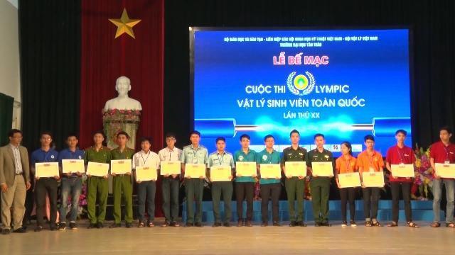 Đại học Bách Khoa Hà Nội đạt giải đặc biệt Cuộc thi Olympic Vật Lý sinh viên toàn quốc lần thứ XX