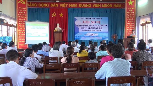 Quảng Ngãi: Bộ Tư lệnh Cảnh sát biển Vùng 2 tập huấn kiến thức biển đảo ở Lý Sơn